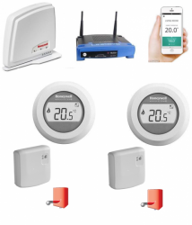 Honeywell Evohome Round Home Connected Y87RFC2074  2 zóny